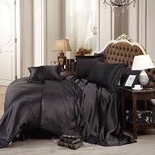 pure satin silk bedding set queen size bed sheet sets bedclothes