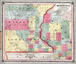 Maps Of Wisconsin by Map Of Minnesota And Part Of Wisconsin David Rumsey Historical