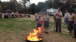 How To Retire A Flag Charleston Cub Scout Pack Troop 79 Flag Retirement Ceremony