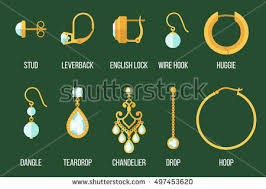 earrings styles earring stock images royalty free images vectors