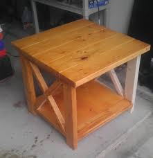 ana white not so rustic x end table diy projects