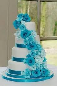 4 tier white u0026 tiffany blue wedding cake by sweet fantasies