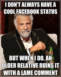 How To Put A Meme On Facebook Comments - 6 types of relatives on facebook