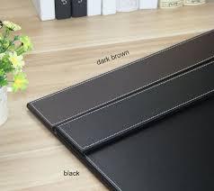 60x45cm wood pu leather boss office desk writing board mat file