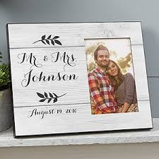 Personalized Wedding Photo Frame Farmhouse Wedding Personalized Picture Frames