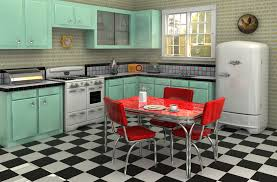 1950 kitchen furniture implementing a retro look in your kitchen and bathroom kitchen