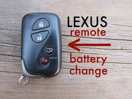 how to lexus key fob remote keyless battery change replace