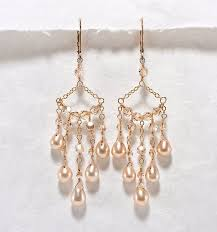 crystal chandelier earrings champagne wedding jewelry crystal