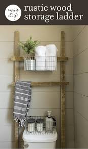 Diy Leaning Ladder Bathroom Shelf by 141 Best Bathroom Tutorials Images On Pinterest Decoration
