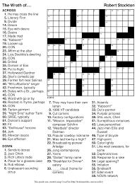 Printable Halloween Crossword by Easy Printable Crossword Puzzles Gameshacksfree