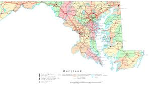 map of maryland with cities maryland map maps of maryland state
