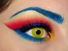 Eye Halloween Makeup by Supergirl Eye Makeup This Started As A Halloween Costume Then