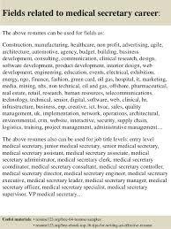 Medical Secretary Sample Resume by Top 8 Medical Secretary Resume Samples