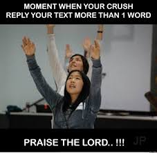 Funny Crush Memes - moment when your crush by wira bali meme center