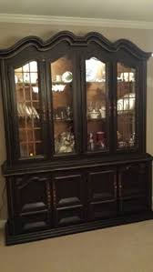 1920 S China Cabinet by Its Done In Annie Sloan Old White And Vintage Wallpaper Interior