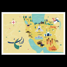 Map Poster Poster Handdrawn Iran Map U2013 Lena Späth