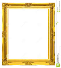 wooden photo frame gold color royalty free stock photography