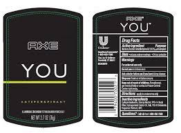 Parfum Axe axe you antiperspirant stick conopco inc d b a unilever