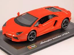 Lamborghini Aventador Orange - lamborghini aventador 1 32 scale model by burago