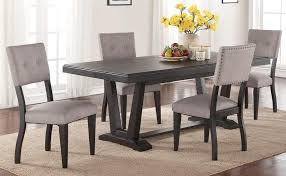 forest place 5 piece dining set includes table and 4 side chairs
