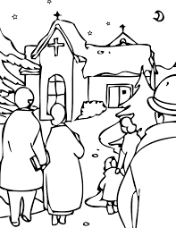 christmas eve coloring page handipoints