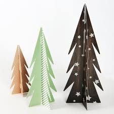 aliexpress com buy pack of 3 christmas paper trees table