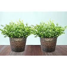 amazon com ikea galvanized plant pot pack of 3 silver patio