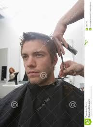 man getting haircut in hair salon royalty free stock photo image