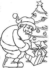 christmas gift santa claus coloring pages
