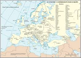 economic commission of europe world map
