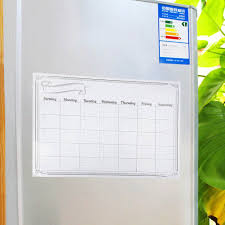kitchen white board magnetic refrigerator whiteboard calendar monthly planner dry