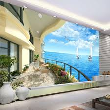 popular wall mural ocean buy cheap wall mural ocean lots from beibehang custom 3d photo wallpaper non woven wall paper bedroom ocean sky ocean beach papel