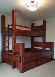 Buy A Hand Made Twin Xl Over Queen Bunk Bed With Storage Made To - Twin extra long bunk beds