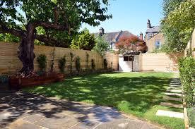 artificial grass path paving privacy screen trellis tile london