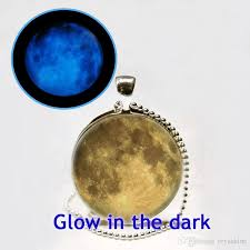 blue moon necklace images Wholesale wholesale glow in the dark yellow moon necklace moon jpg