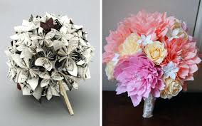 bouquets for wedding paper flowers for weddings this paper flower wedding bouquet