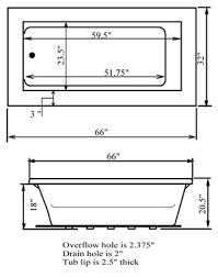elements 66 x 32 soaking bathtub at leisure concepts