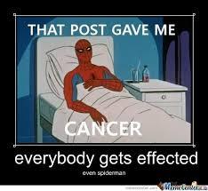 Spiderman Meme Cancer - spider man gets cancer by ben12345 meme center