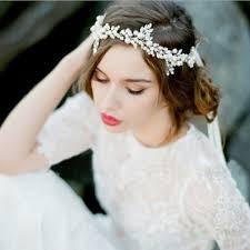 bridal headpiece pearl and rhinestone bridal headpieces garters co