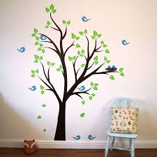 birds nests tree wall sticker parkins interiors birds nests tree wall sticker