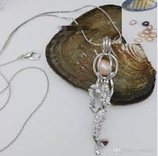 pearl wish necklace images Wholesale 2017 women gift wholesale hollow mermaid love wish pearl jpg
