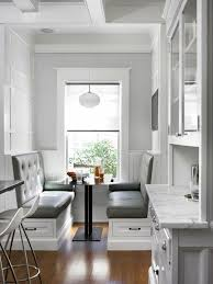brilliant bench seating in kitchen and 7 favorites under the bench