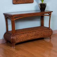 Rattan Console Table Wicker Rattan Console Sofa Tables You Ll Wayfair