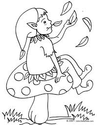 lake elf coloring coloring pages hellokids