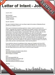 how to write a letter of intent for a job sample