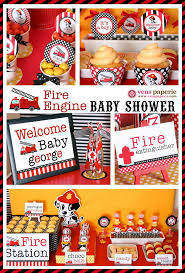 37 best fireman baby shower images on pinterest fireman party
