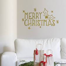 Christmas Wall Pictures by Merry Christmas U0027 Wall Sticker By Oakdene Designs