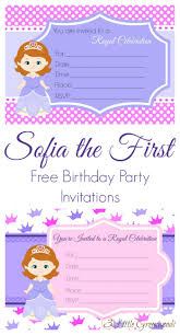 Editable 1st Birthday Invitation Card Sofia The First Birthday Invites