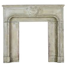 18th c limestone des vosges three solid block antique fireplace
