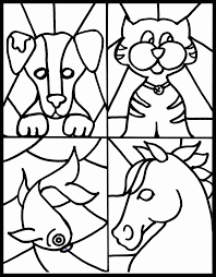 christmas stain glass coloring page coloring home